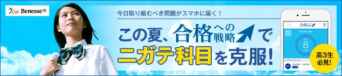 この夏、「合格への戦略」でニガテ科目を克服!